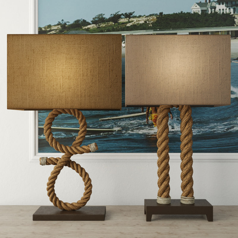 nautical rope table lamps model