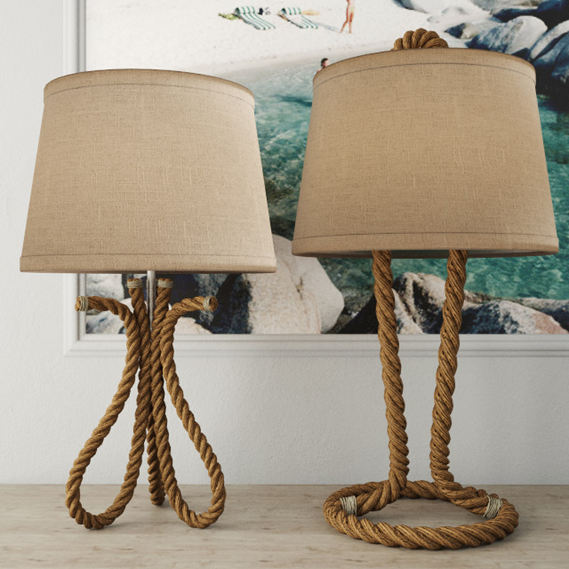 nautical rope table lamps 3D model