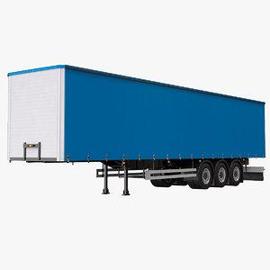 3D model tautliner trailer