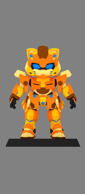 3D mecha casserra model