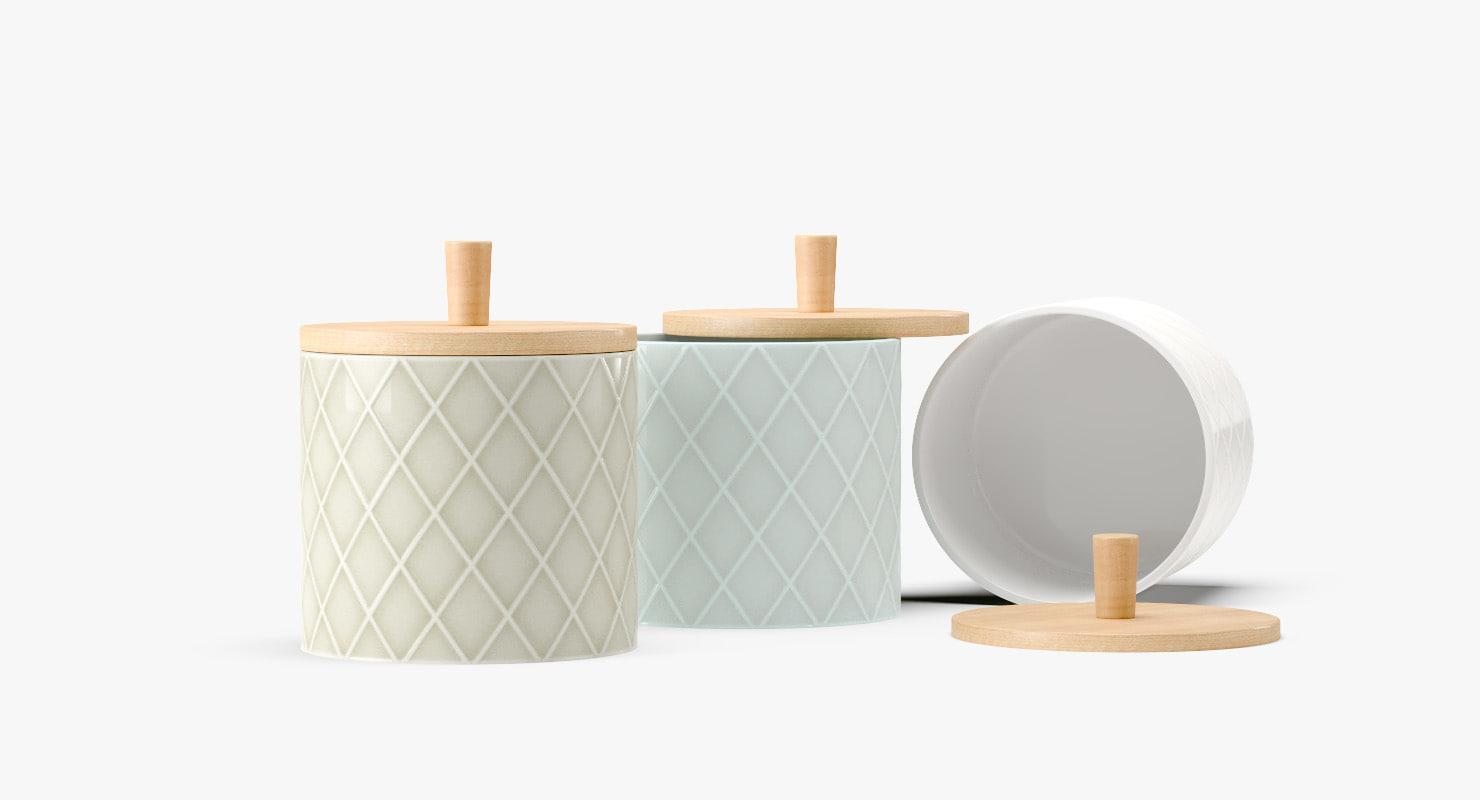 3D finnsdottir pipanella ceramic lid model
