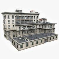 3D industrial building factory