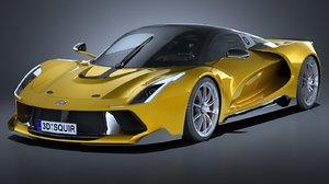 3D hq generic supercar
