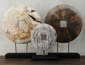 decoration albesia teak wood 3D model