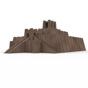 3D ur ziggurat model