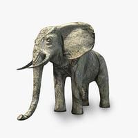 3D stone elephant