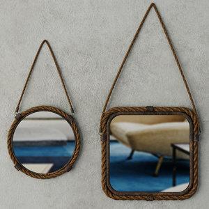 3D model molyneux jute metal mirror