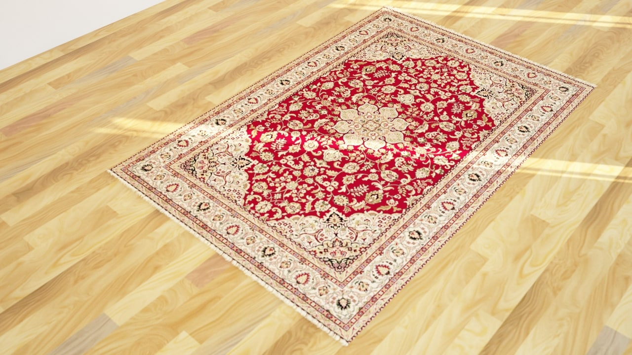 rug carpet interior 3D model