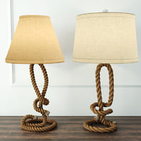 3D nautical rope table lamps model