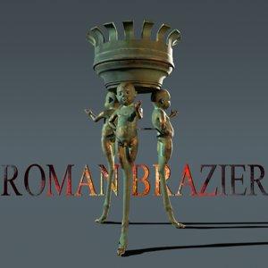 3D roman brazier