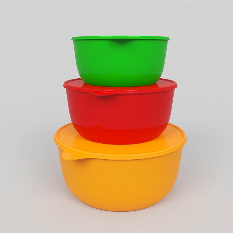 3D model tupperbowl bowl