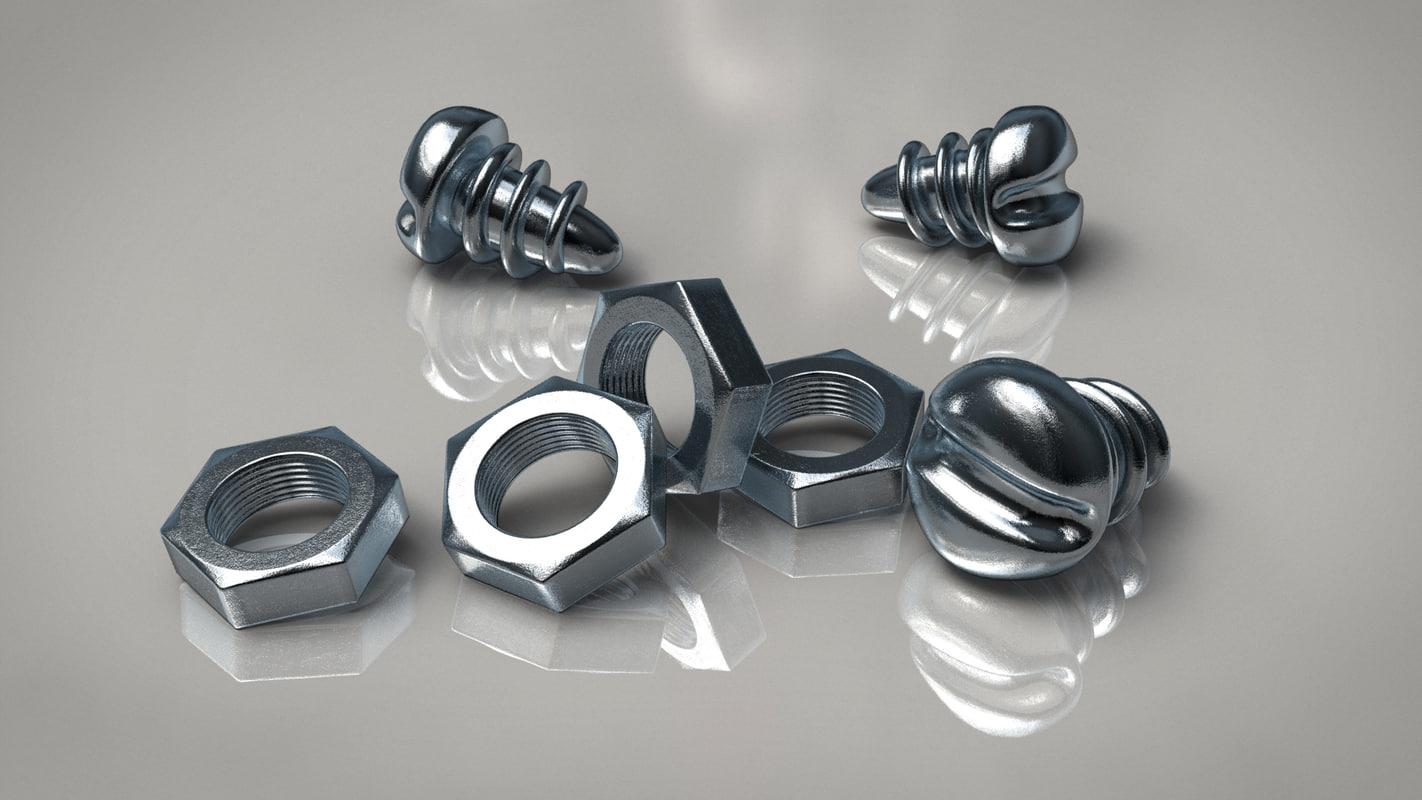 metallic screw nut model