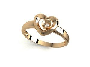 heart ring 3D model