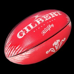 rugby ball welsh 3D