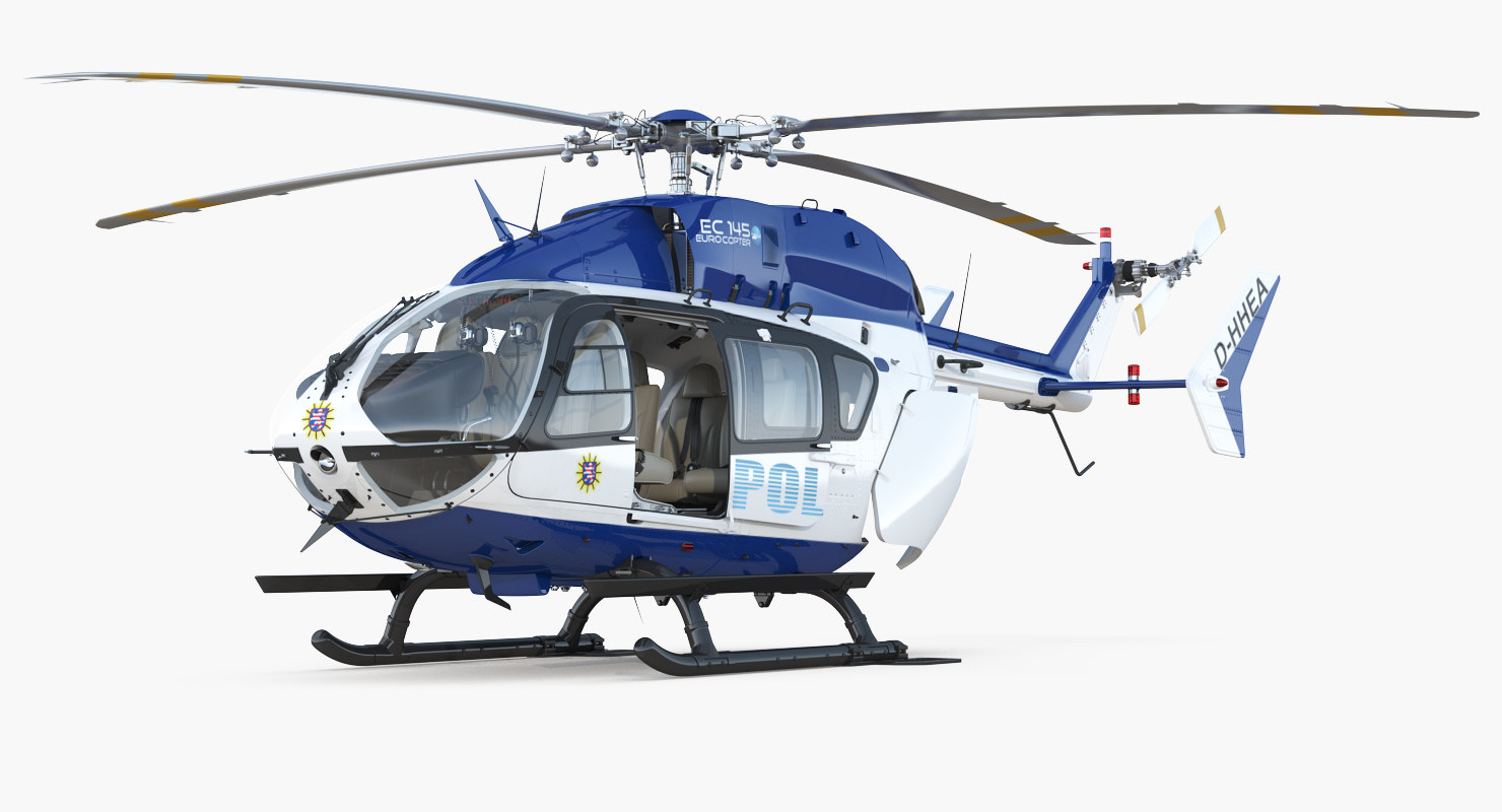 eurocopter ec145 german police 3D model
