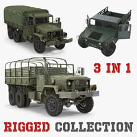 Military Cargo Vehicles Rigged Collection