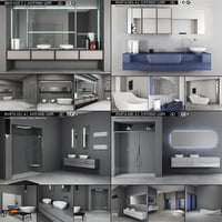 bathroom furniture 2 antonio 3D
