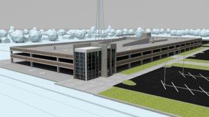 precast parking garage 3D