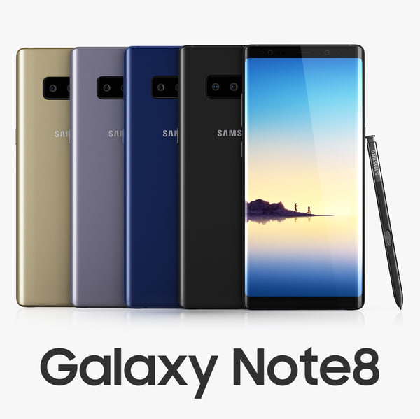 samsung galaxy note8 colors 3D model