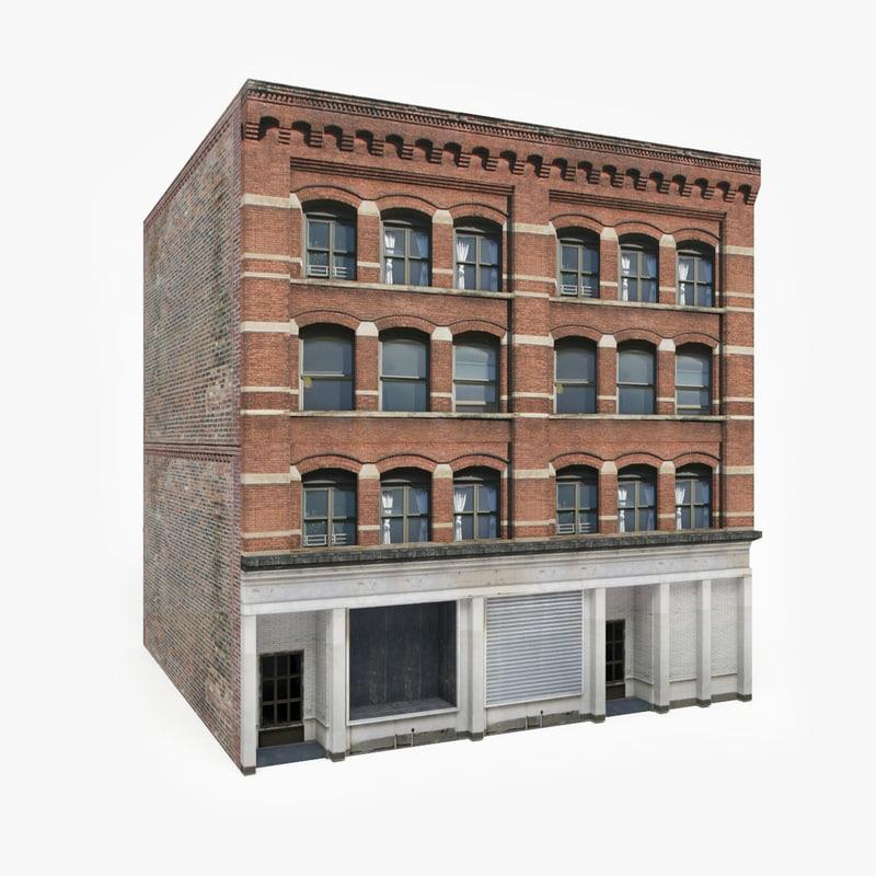 3D model ready apartment building