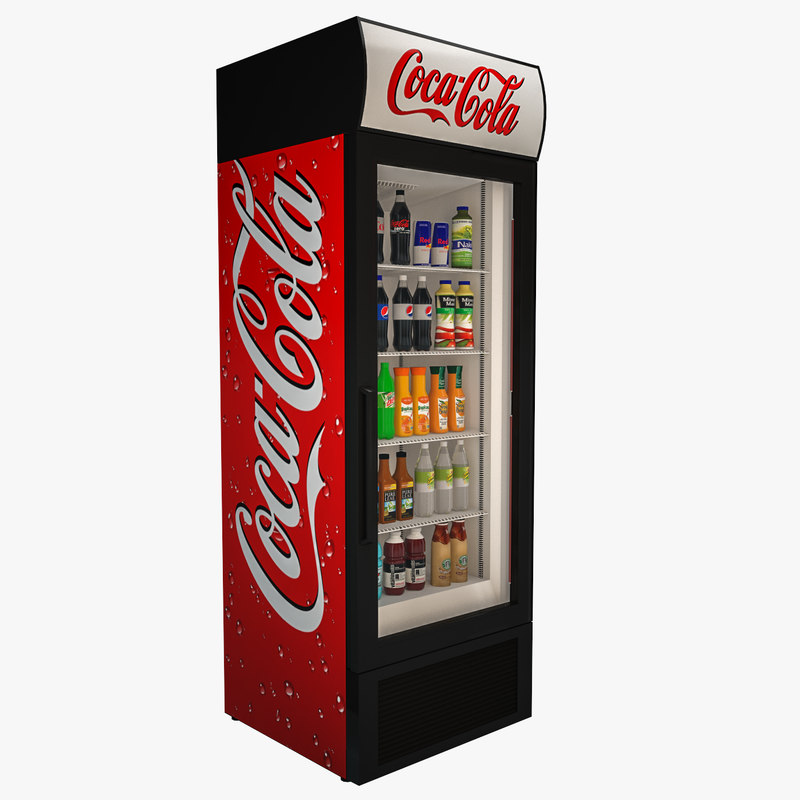 3D coca cola fridge model