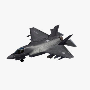 3D f-35c lightning strike fighter model