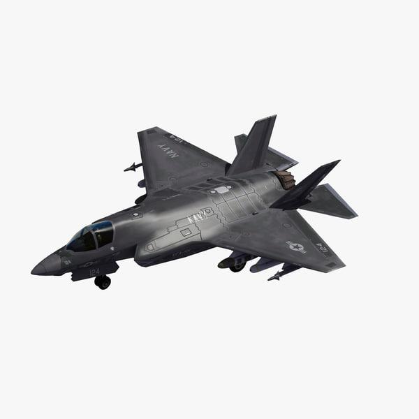 3D f-35c lightning strike fighter model