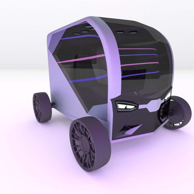 3D concept styled single seater