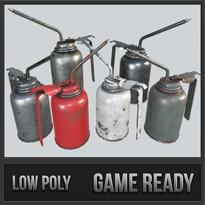 3D oil canisters pbr model
