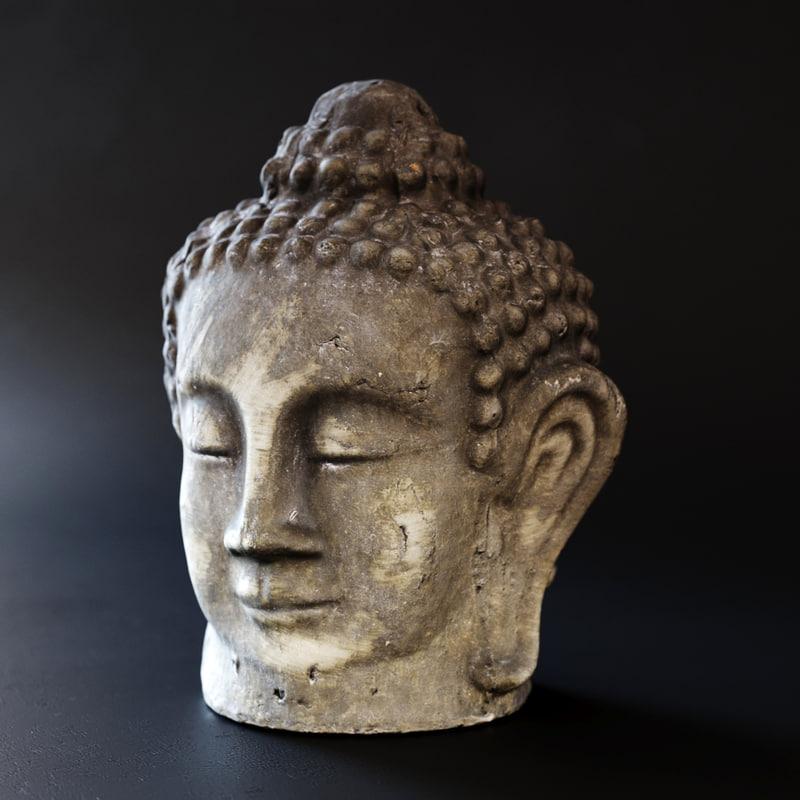 buddha head 3D model