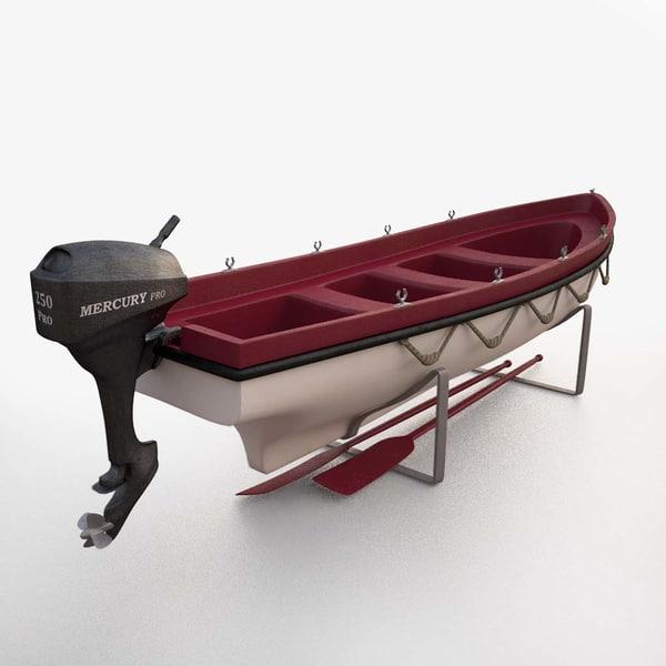 lifeboat 3D model