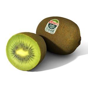 kiwi fruit 3D