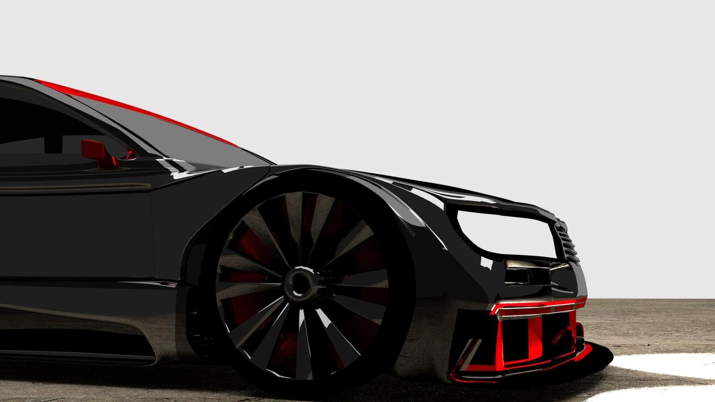 3D car modeled
