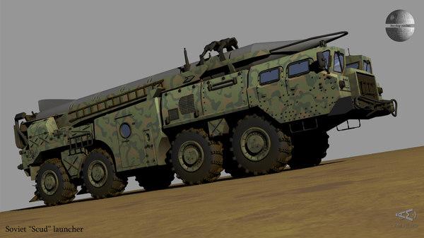 soviet scud launcher 3D model