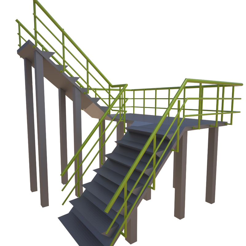 3D stairs industrial model