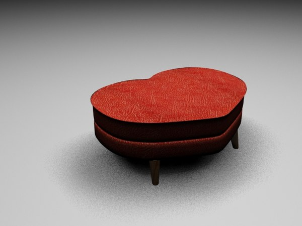 sofa heart 3D model