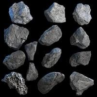 realistic rocks 3D model