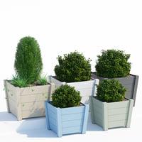 hardwood planter 3D