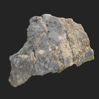 3D scanned nature stone 013 model