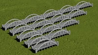 arched bridges 3D model