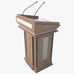 3D model speech stand