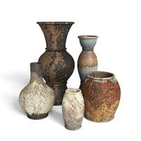 3D old rustic decor vase model