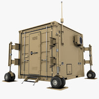 uav drone 10 feet container 3D