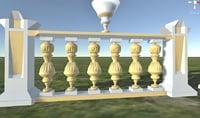 Balustrade Gold Palace Decor Baroque 2