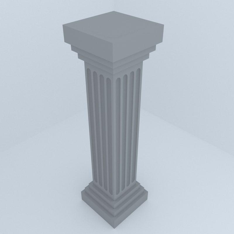historic column 3D