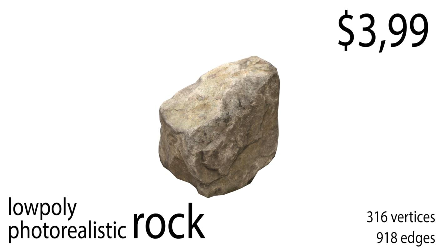 rock photorealistic real model