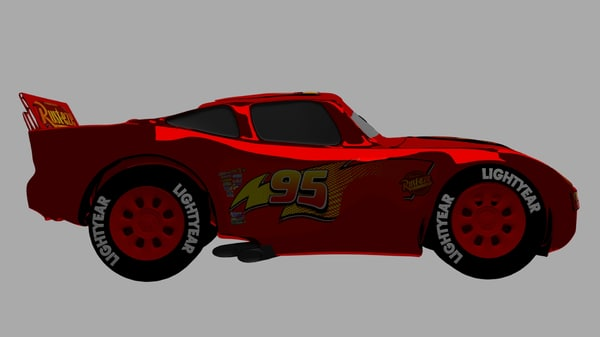 3D mcqueen lightning model
