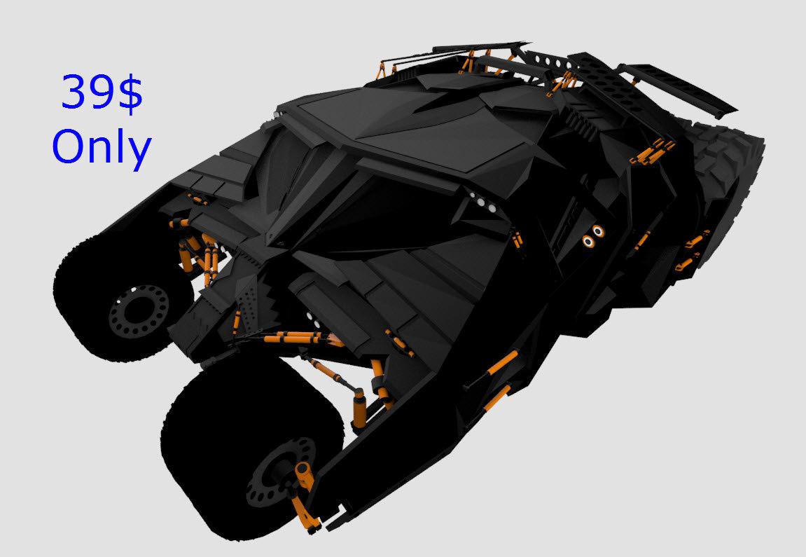 3D mobile batmobile