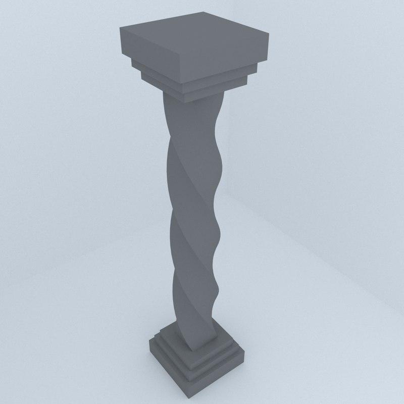 historic column 3D model