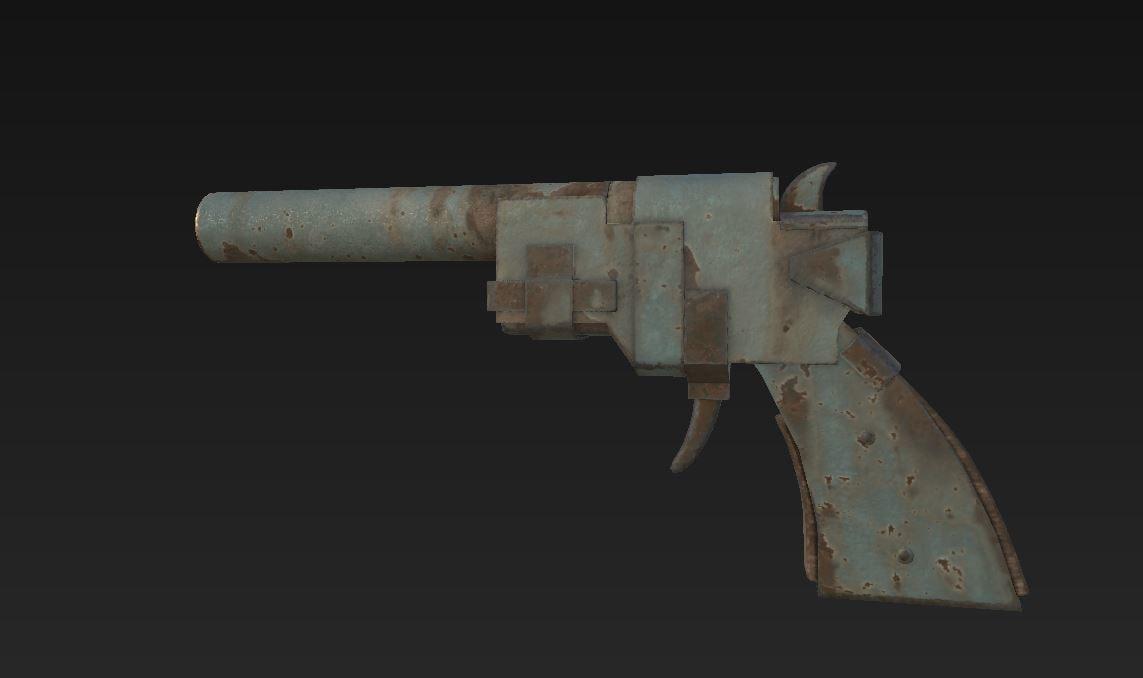 3D post apocalyptic gun